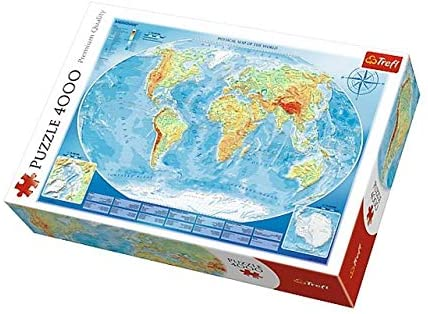 Puzzle Trefl Mapamundi Físico Gigante de 4000 Piezas