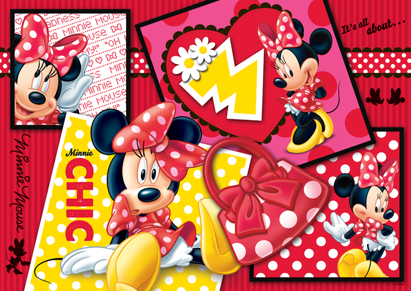 Puzzle Trefl Minnie Collage de 500 Piezas
