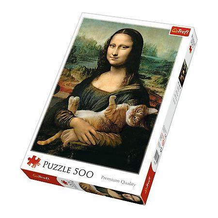 Puzzle Trefl El Gato de Mona Lisa de 500 Piezas