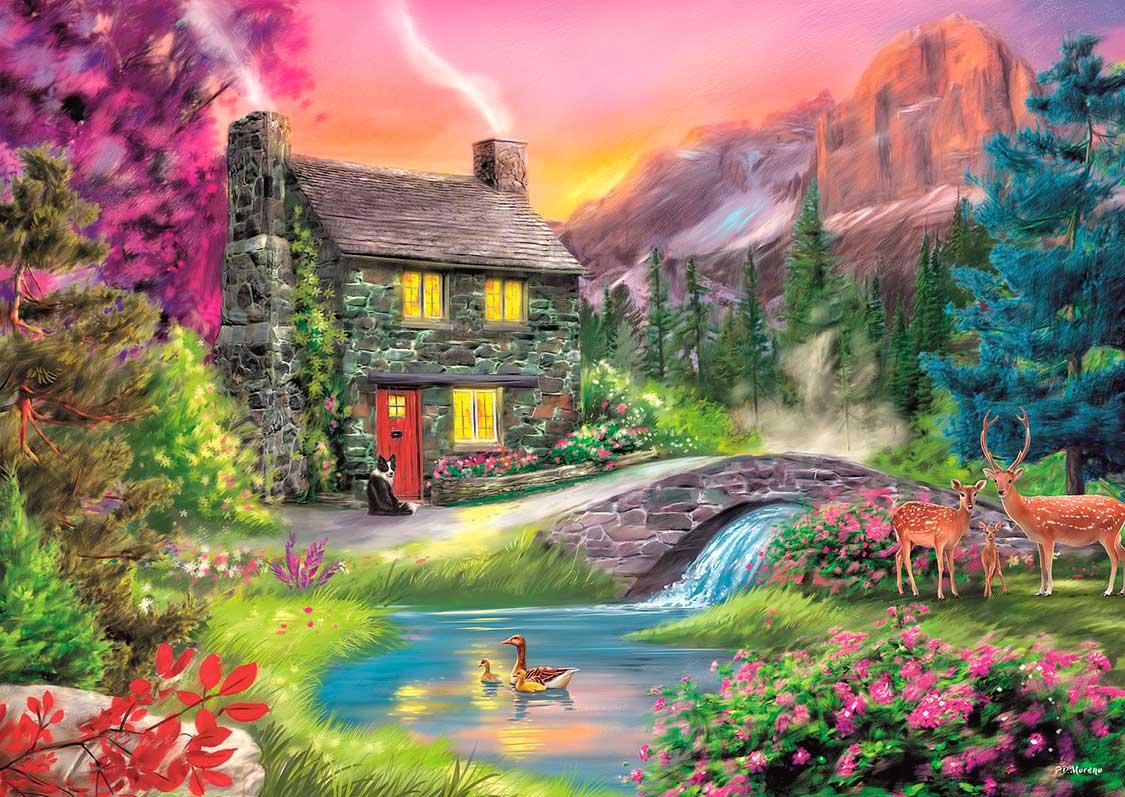 Puzzle Trefl Montañas Idílicas de 500 Piezas