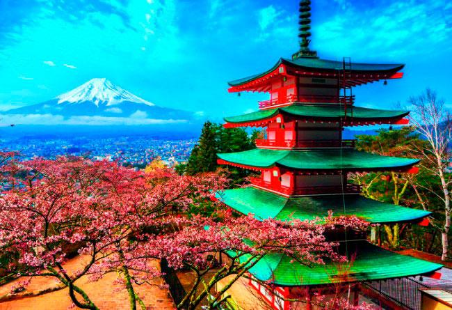 Puzzle Trefl Monte Fuji, Japón de 1500 Piezas
