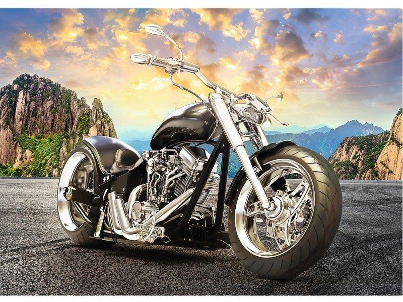 Puzzle Trefl Motocicleta Negra de 500 Piezas