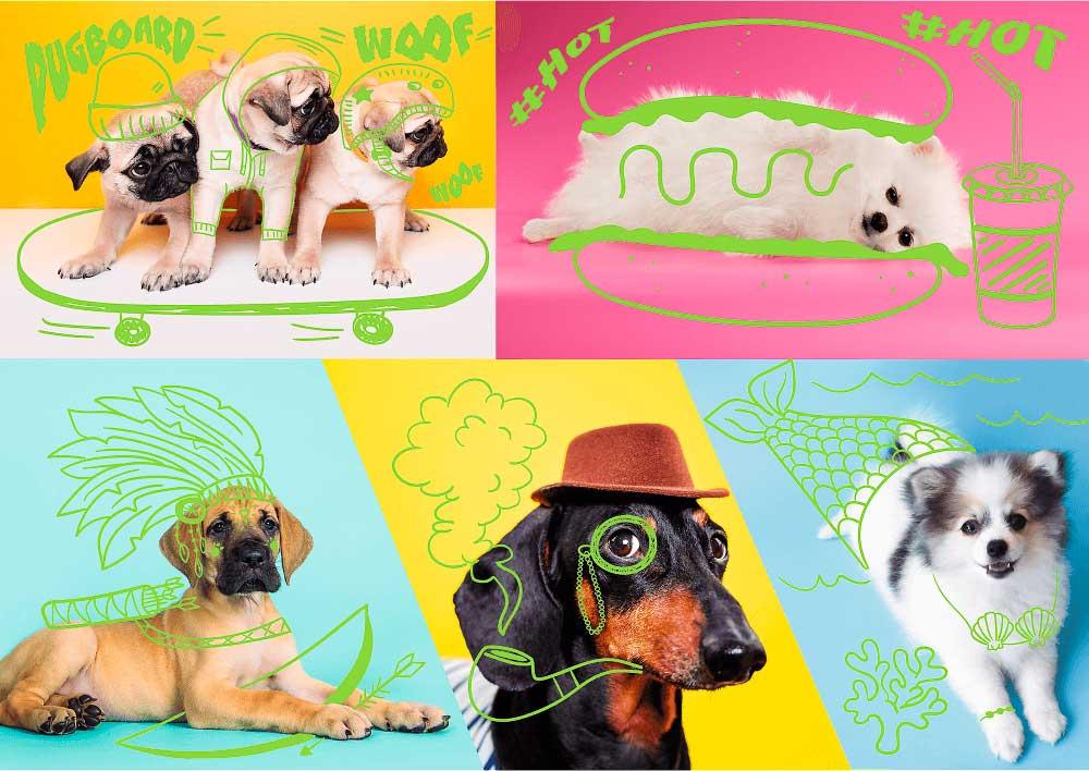 Puzzle Trefl Neón Más Que Perros de 1000 Piezas