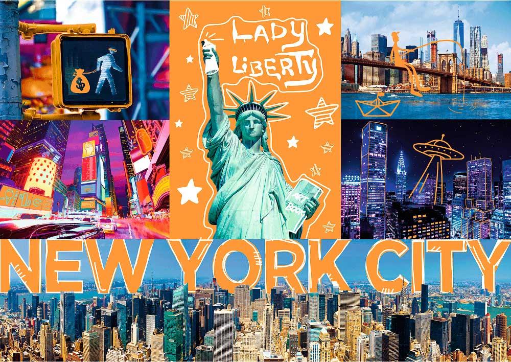 Puzzle Trefl Neón New York City de 1000 Piezas