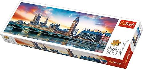 Puzzle Trefl Panorama Big Ben y Palacio de Westminster de 500 Pz