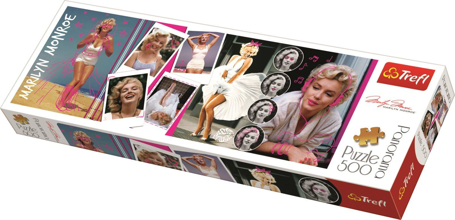 Puzzle Trefl Panorama Collage Marilyn Monroe de 500 Pzs