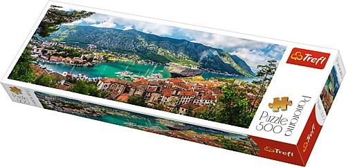 Puzzle Trefl Panorama Kotor, Montenegro de 500 Pzs