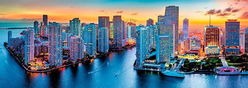 Puzzle Trefl Panorámica de Miami de 1000 Piezas