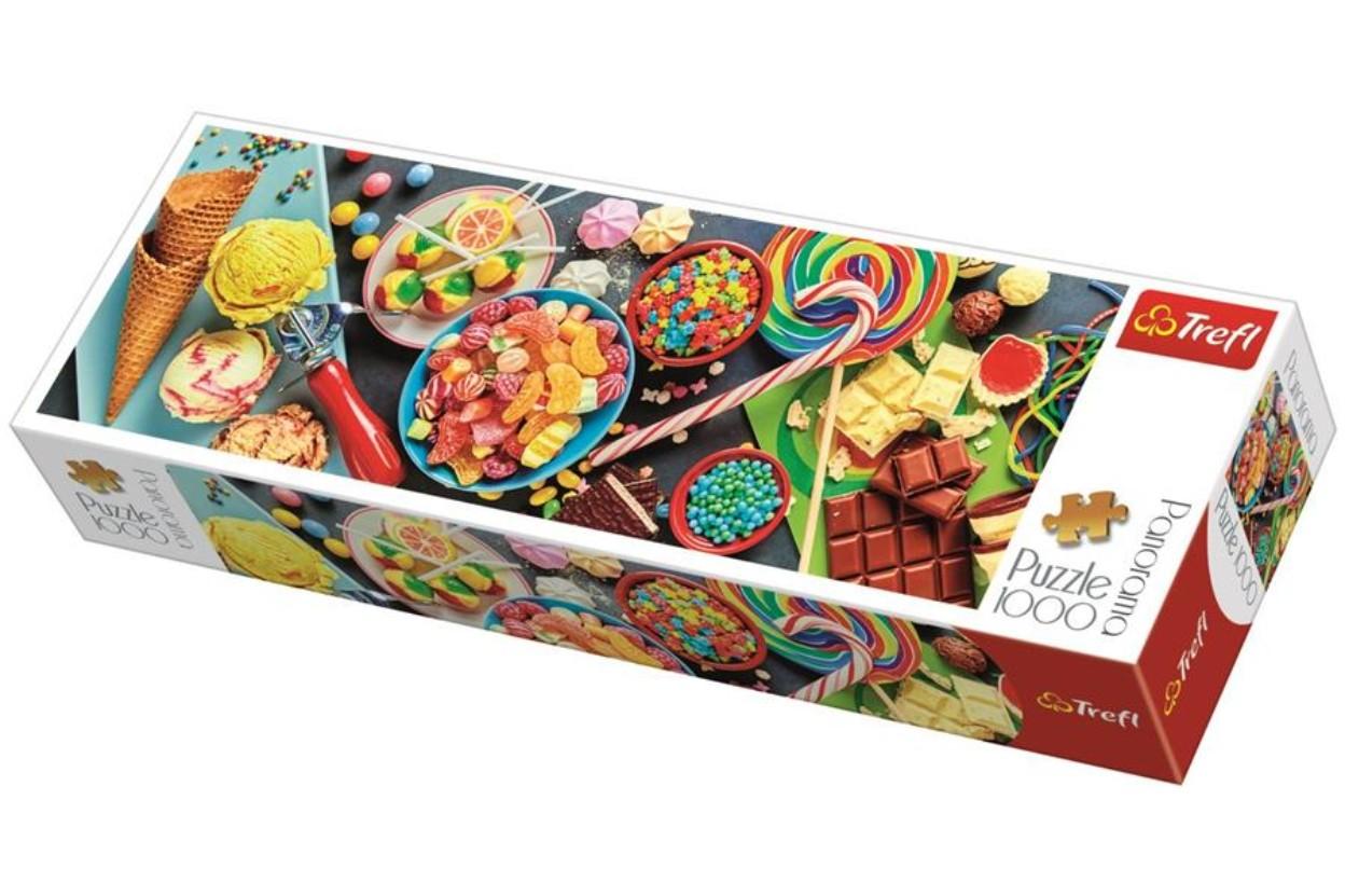 Puzzle Trefl Panorámica Dulces Delicias de 1000 Piezas