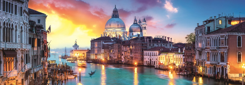 Puzzle Trefl Panorámica Gran Canal, Venecia de 1000 Piezas