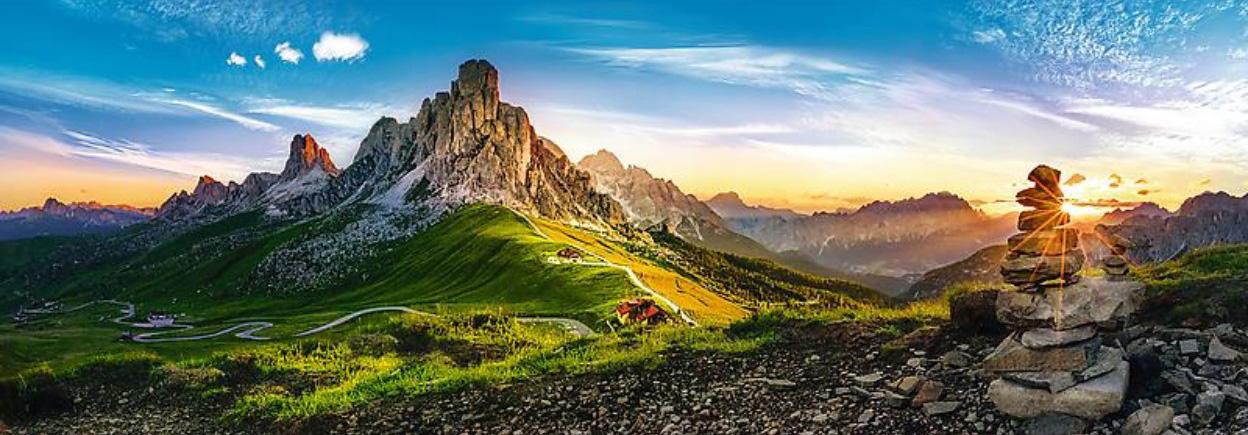 Puzzle Trefl Panorámica Passo de Giau, Dolomitas de 1000 Pzs