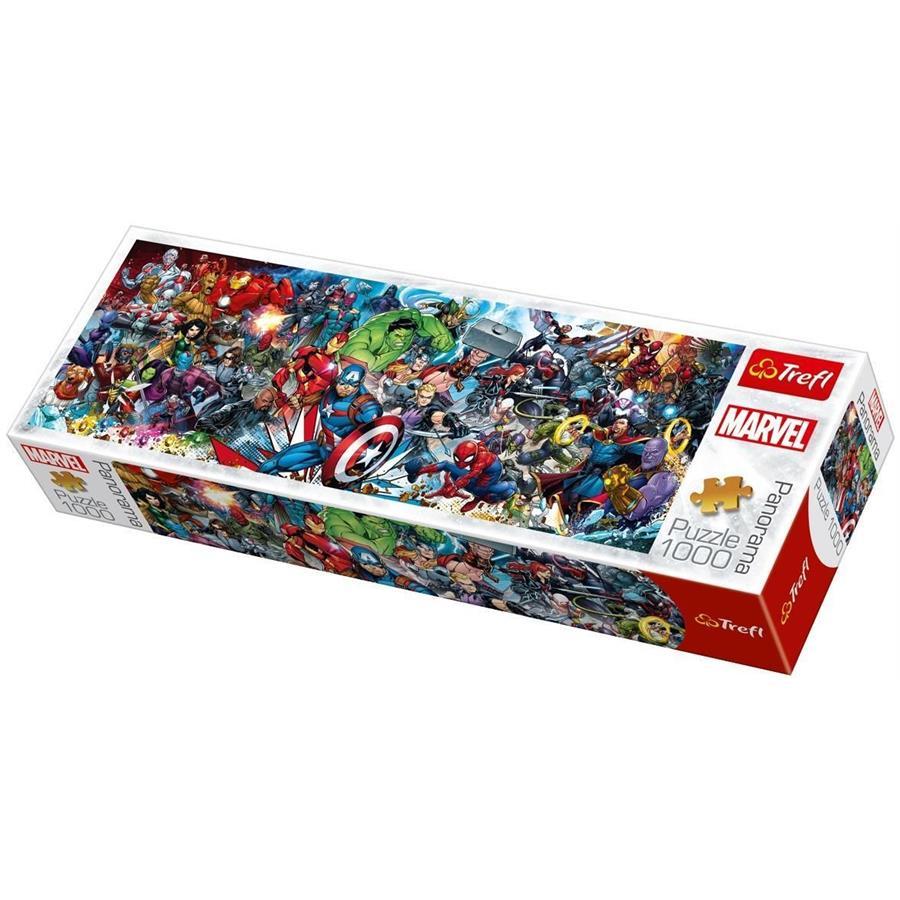 Puzzle Trefl Panorámica Únete al Universo Marvel de 1000 Pzs
