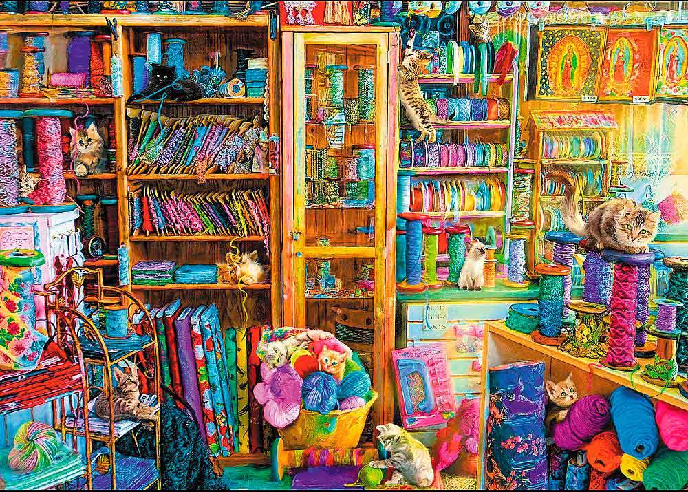 Puzzle Trefl Paraíso de los Gatos de 2000 Piezas