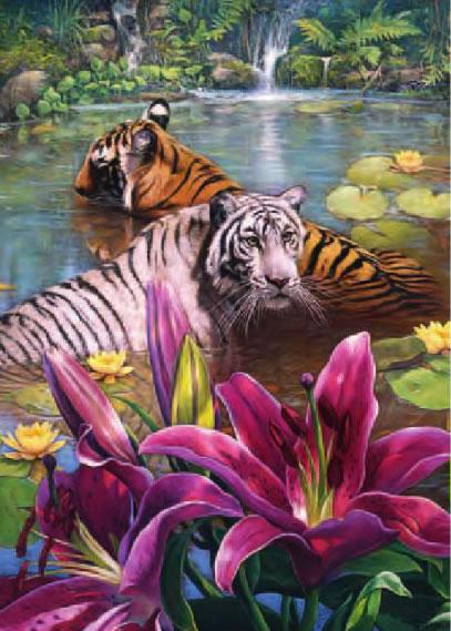 Puzzle Trefl Pareja de Tigres de 500 Piezas