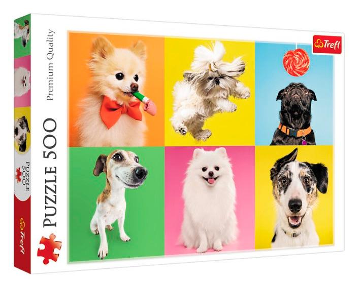 Puzzle Trefl Perritos de 500 Piezas