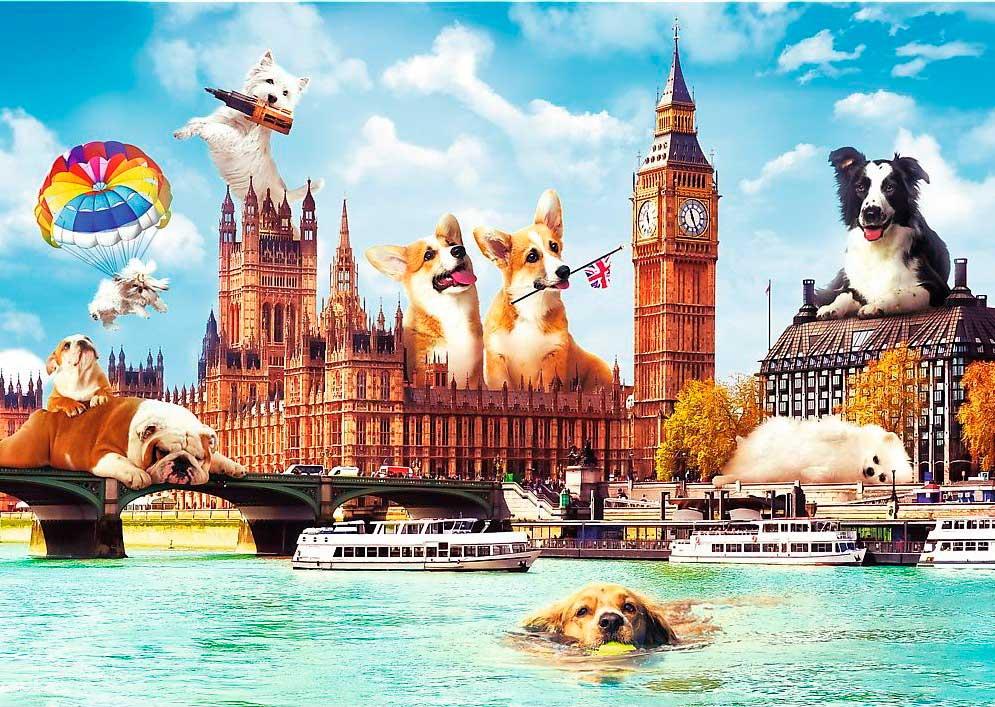 Puzzle Trefl Perros en Londres de 1000 Piezas