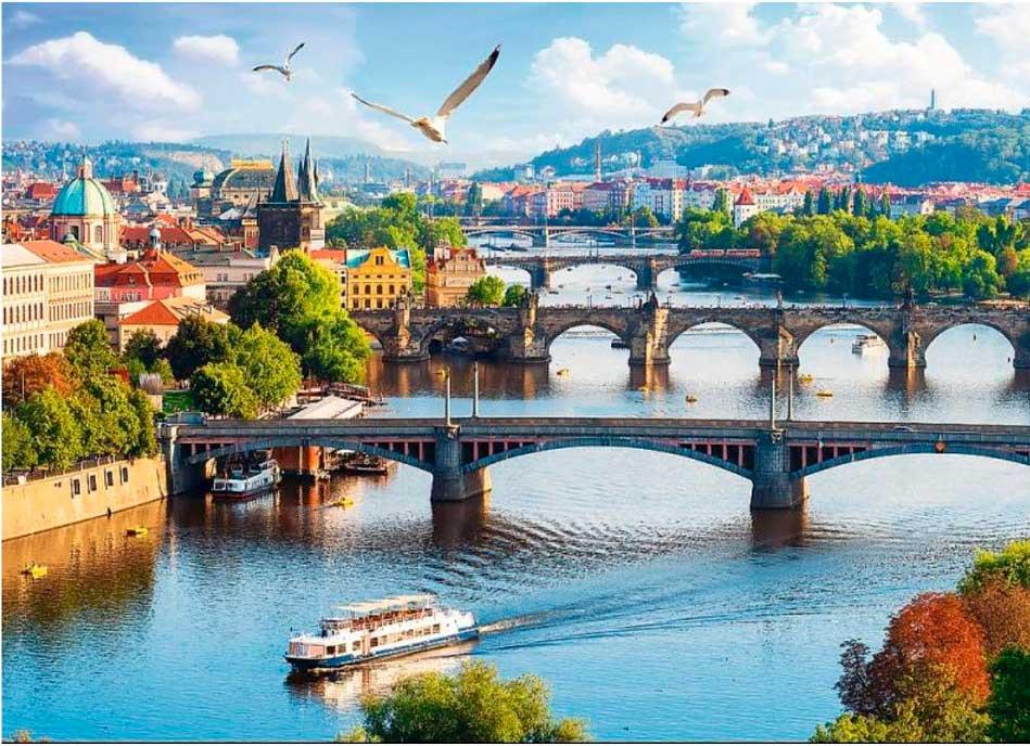 Puzzle Trefl Praga, República Checa de 500 Piezas