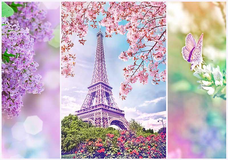 Puzzle Trefl Primavera en París de 1000 Piezas