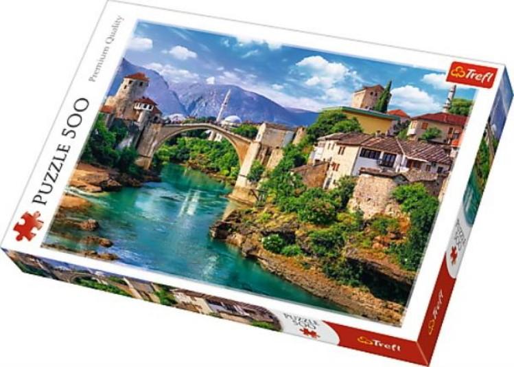 Puzzle Trefl Puente Viejo en Mostar, Bosnia de 500 Pzs
