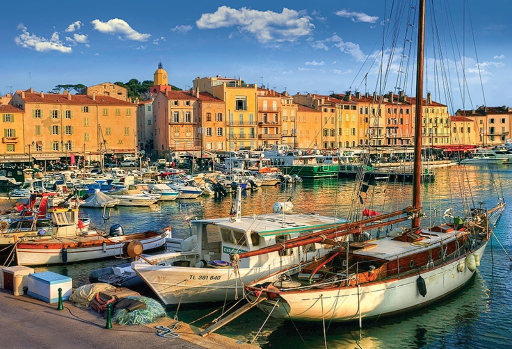 Puzzle Trefl Puerto Viejo de Saint Tropez de 1500 Piezas