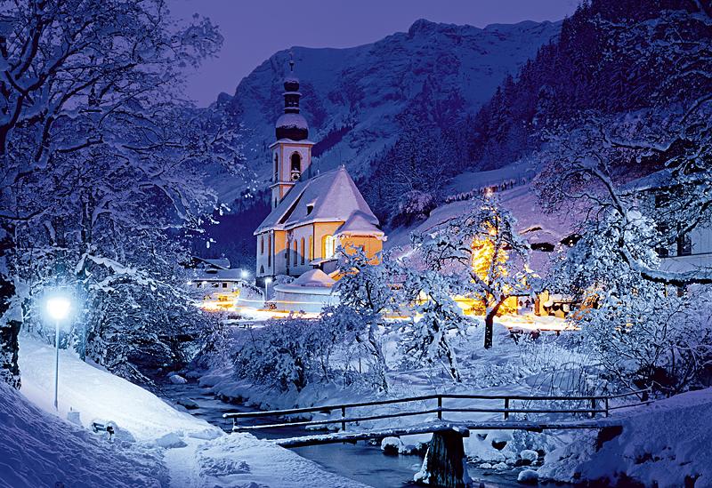 Puzzle Trefl Ramsau, Bavaria, Los Alpes de 1500 Piezas