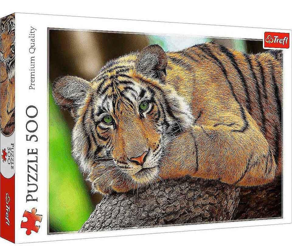 Puzzle Trefl Retrato de Tigre de 500 Piezas