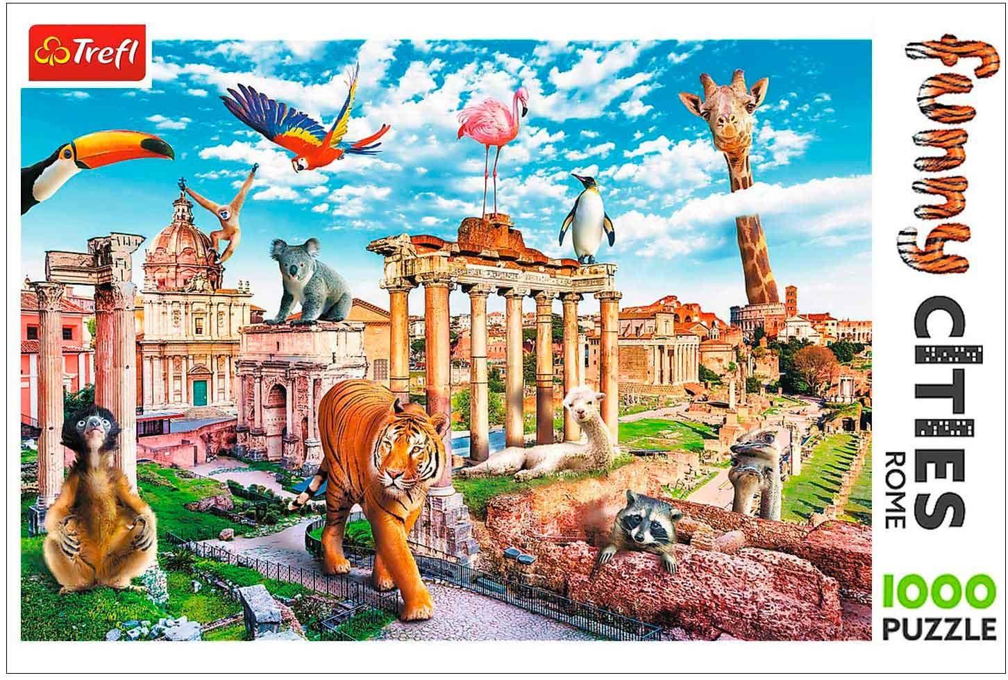 Puzzle Trefl Roma Salvaje de 1000 Piezas