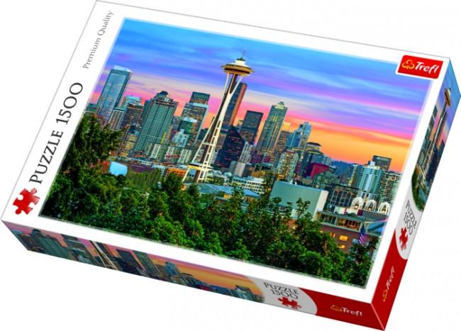 Puzzle Trefl Space Needle, Seattle de 1500 Piezas