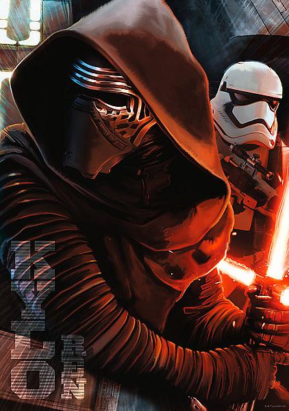 Puzzle Trefl Star Wars El Lado Oscuro, Episodio VII 1000 Piezas