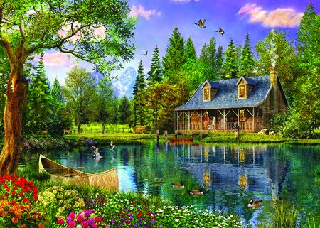 Puzzle Trefl Tarde Idílica en el Lago  de 4000 Piezas