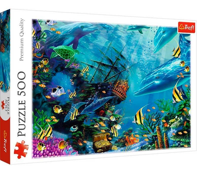 Puzzle Trefl Tesoro Escondido de 500 Piezas