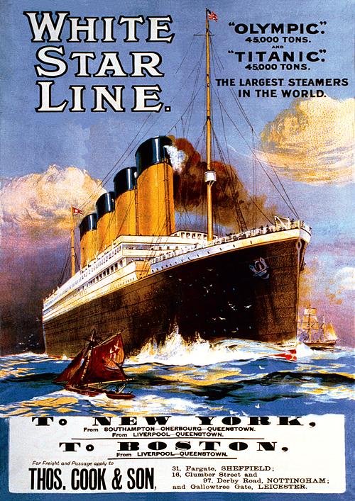 Puzzle Trefl Titanic Retro Poster 1911 de 1000 Piezas