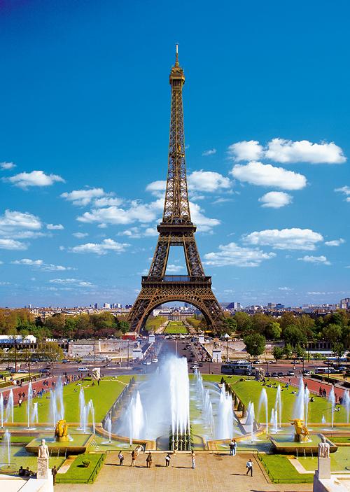Puzzle Trefl Torre Eiffel, Campos Eliseos de Paris de 2000 Pieza