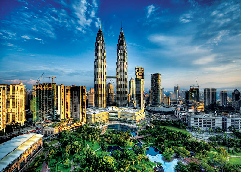 Puzzle Trefl Torres Petronas, Kuala Lumpur, Malasia de 2000 Piez