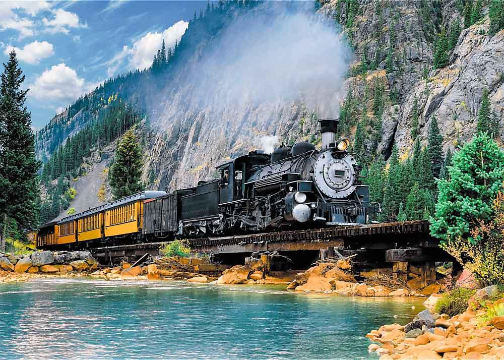 Puzzle Trefl Tren en la Montaña de 500 Piezas