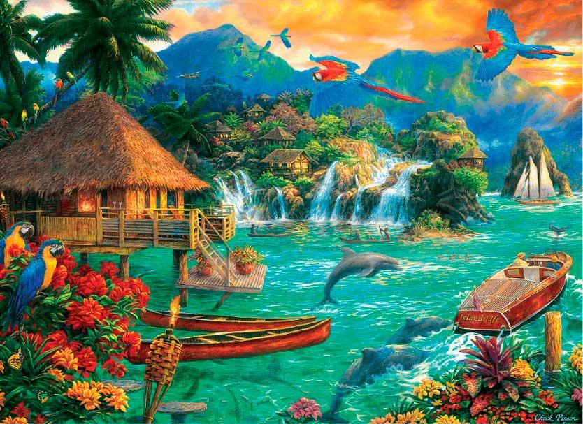 Puzzle Trefl Vida en la Isla de 3000 Piezas