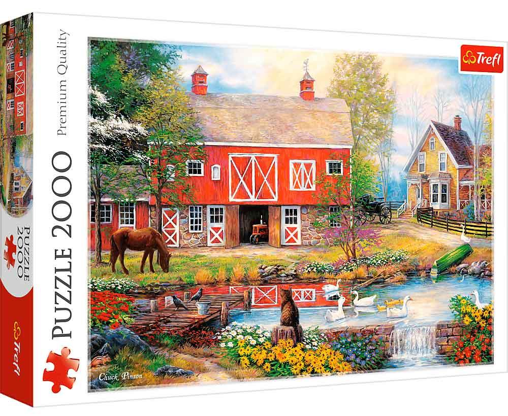 Puzzle Trefl Vida Rural de 2000 Piezas