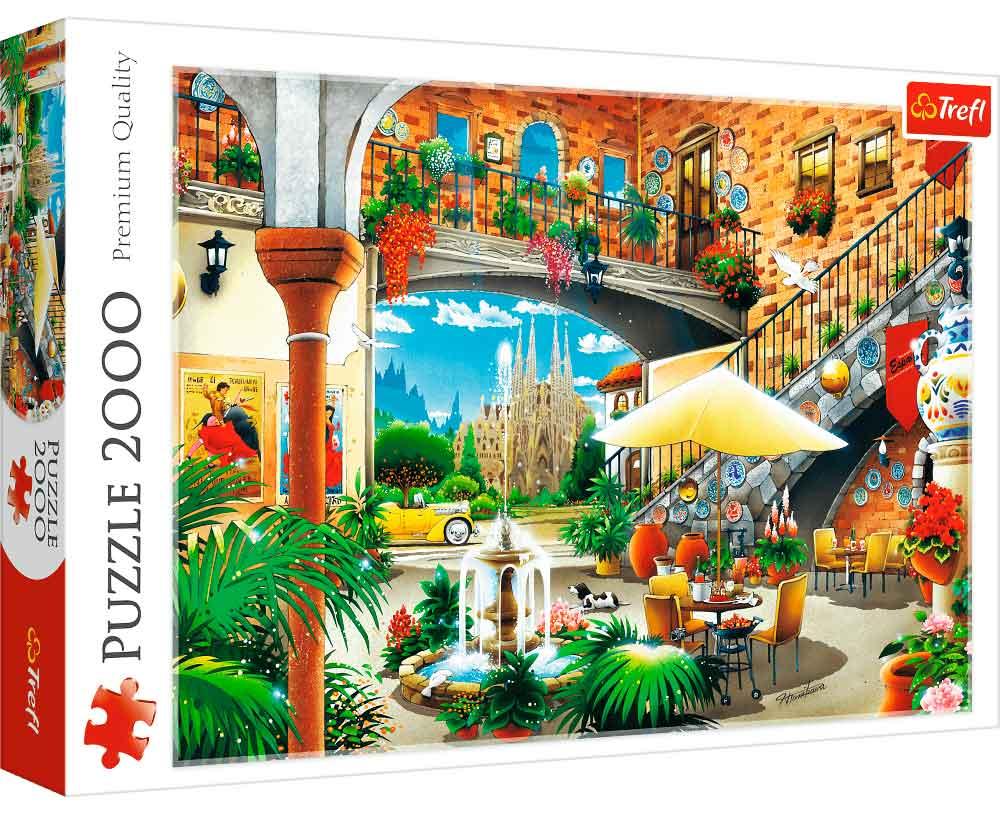 Puzzle Trefl Vista de Barcelona de 2000 Piezas
