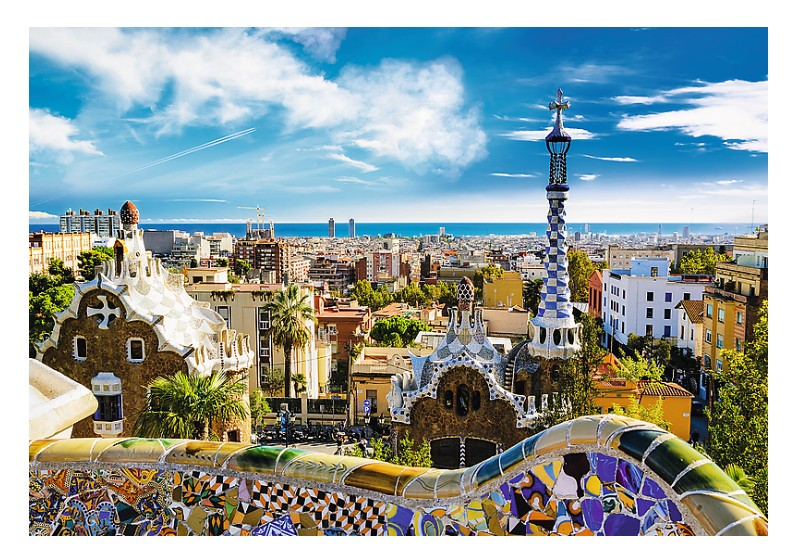 Puzzle Trefl Vista de Barcelona Desde el Parque Güel 1500 Piezas