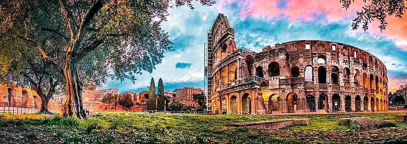 Puzzle Trefl Vista del Coliseo al Atardecer de 1000 Pieza