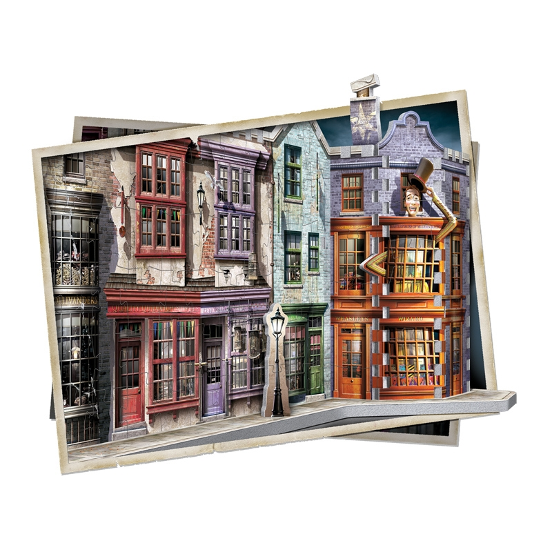 Puzzle Wrebbit 3D Harry Potter Callejón Diagon 450 Piezas
