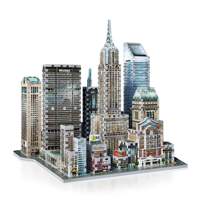 Puzzle Wrebbit Manhathan Este 3D 875 Piezas