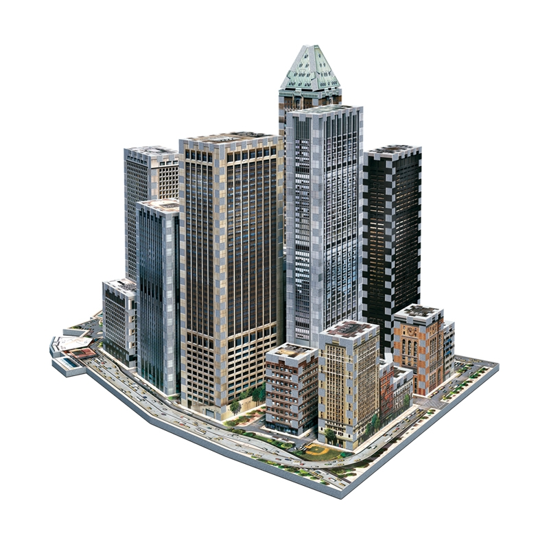 Puzzle Wrebbit Manhathan Financial City 3D 925 Piezas