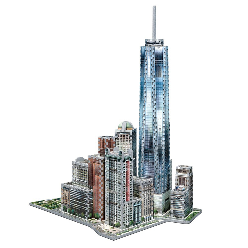 Puzzle Wrebbit Manhathan World Trade Center 3D 875 Piezas